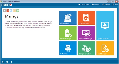 Defrag External Hard Drive in Windows 7 - Main Screen